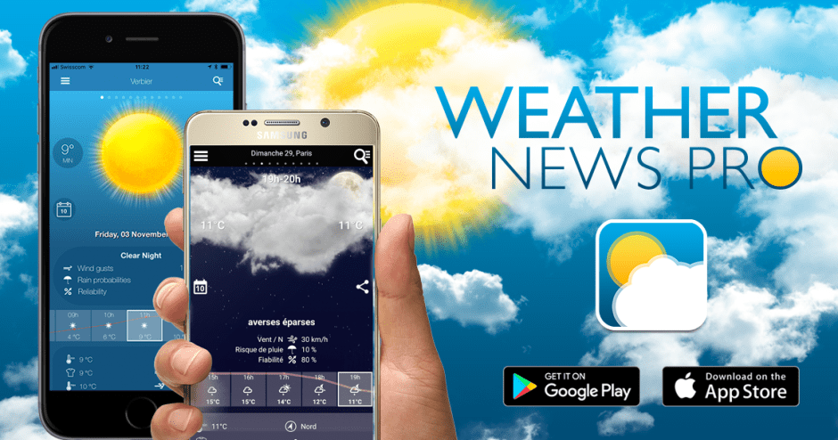 Weather News Pro d'ID Mobile.