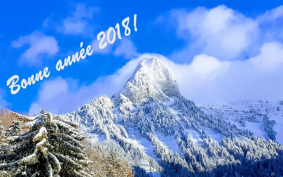 Bonne et heureuse année high-tech 2018! Photo: Dent de Jaman au-dessus de Montreux.