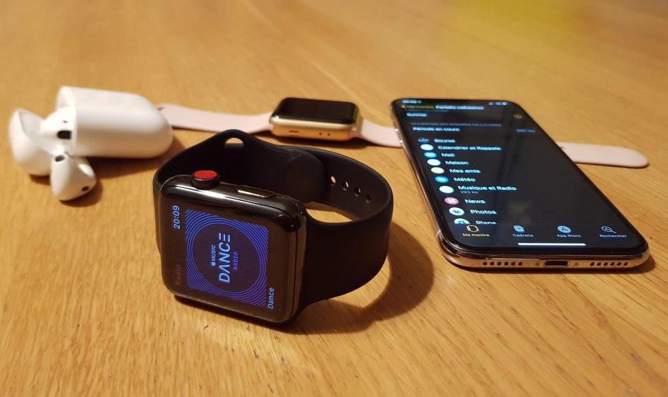 Le test de l'Apple Watch Cellular avec iMusic et Apple Pay.