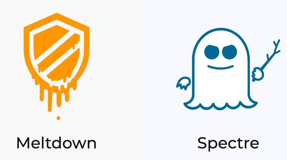 Les logos de Spectre et Meltdown.