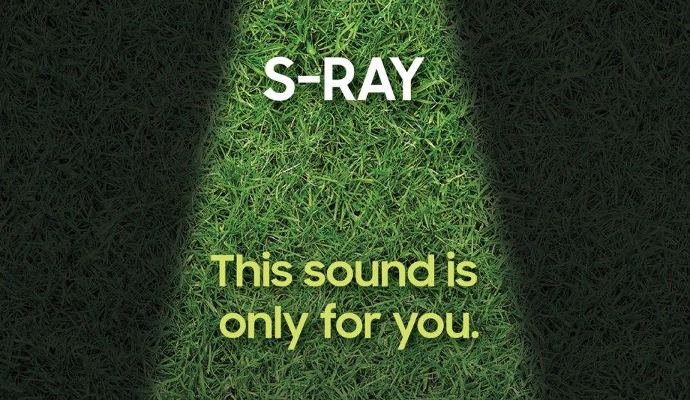 Les haut-parleurs directionnels S-Ray de Samsung.