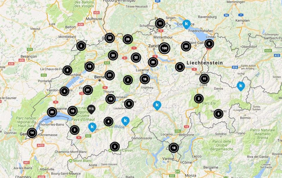 Le réseau Swisscom Easy Point.