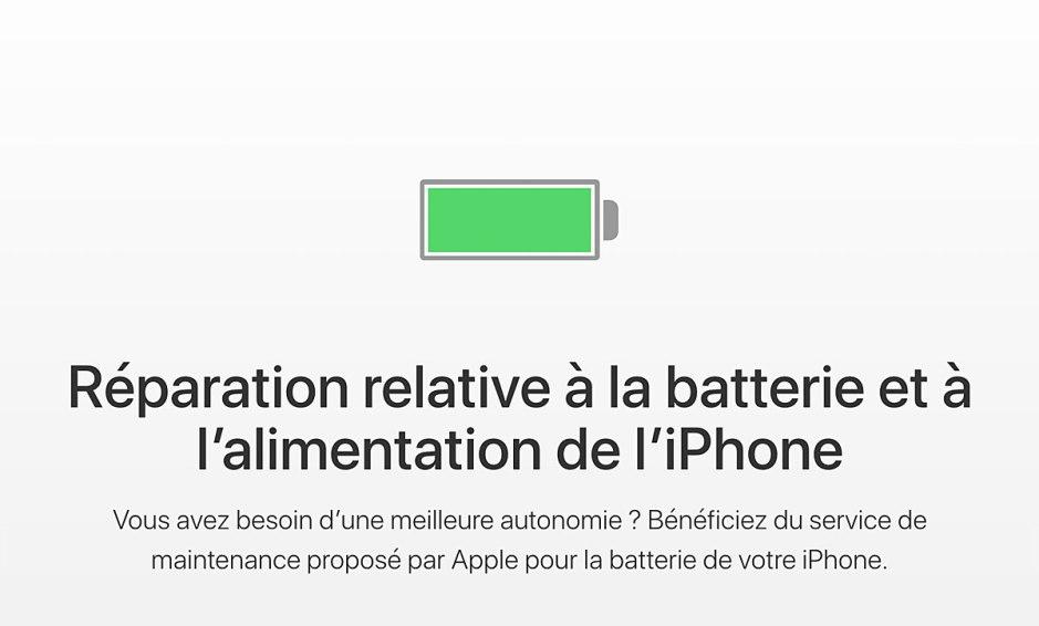Apple change la batterie de votre iPhone 6 hors garantie et suivants pour 29 francs.