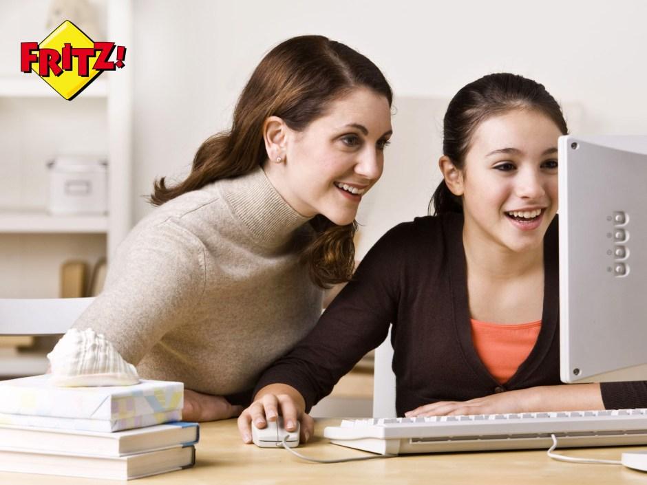 Comme d'autres constructeurs de modems/routeurs, Fritz communique sur la sécurité des enfants sur internet.