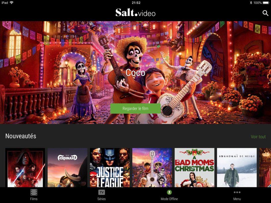 Salt vidéo: une offre basée sur celle d'HollyStar.