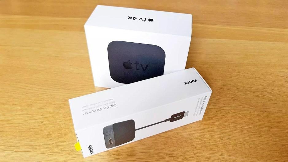 L'adaptateur HDMI 1.4 vers HDMI 1.4, audio optique et mini-jack analogique.