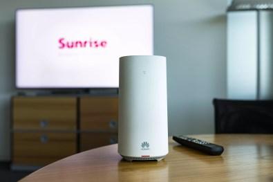 Sunrise preasentiert die neue 5G-Technologie in Zusammenarbeit mit Huawei beim Standort Oerlikon am Tag vor dem eigentlichen Medienevent am Dienstag, 26. Juni 2018, in Zuerich. (PPR/Aladin Klieber)