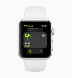 L'Apple Watch sera adaptée à la pratique du yoga avec watchOS 5.