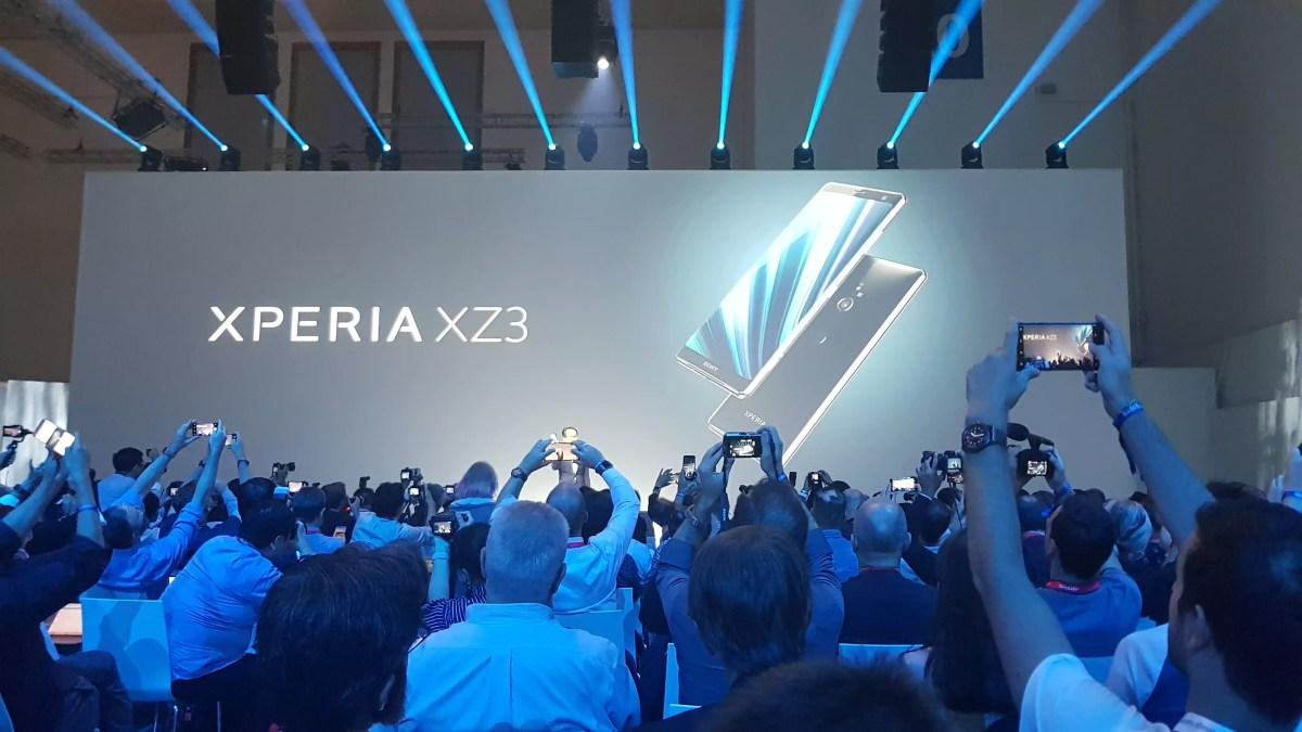 Le nouveau Sony Xperia XZ3 à écran OLED.