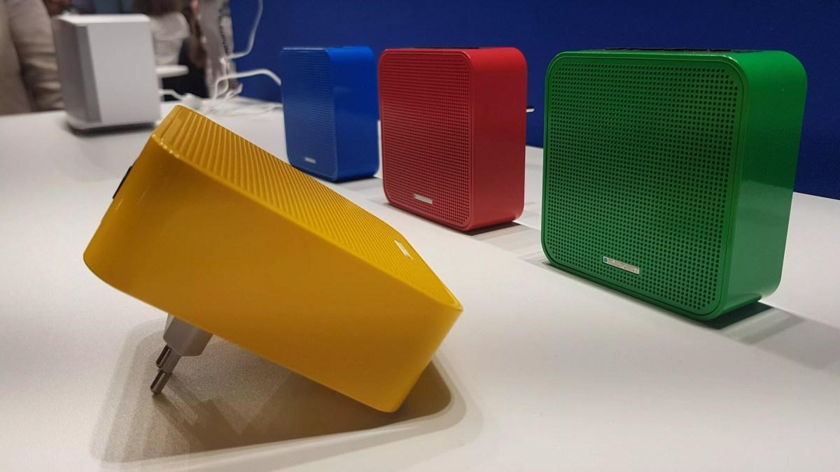 Blaupunkt et son haut-parleur Wi-Fi directement connecté au réseau électrique.