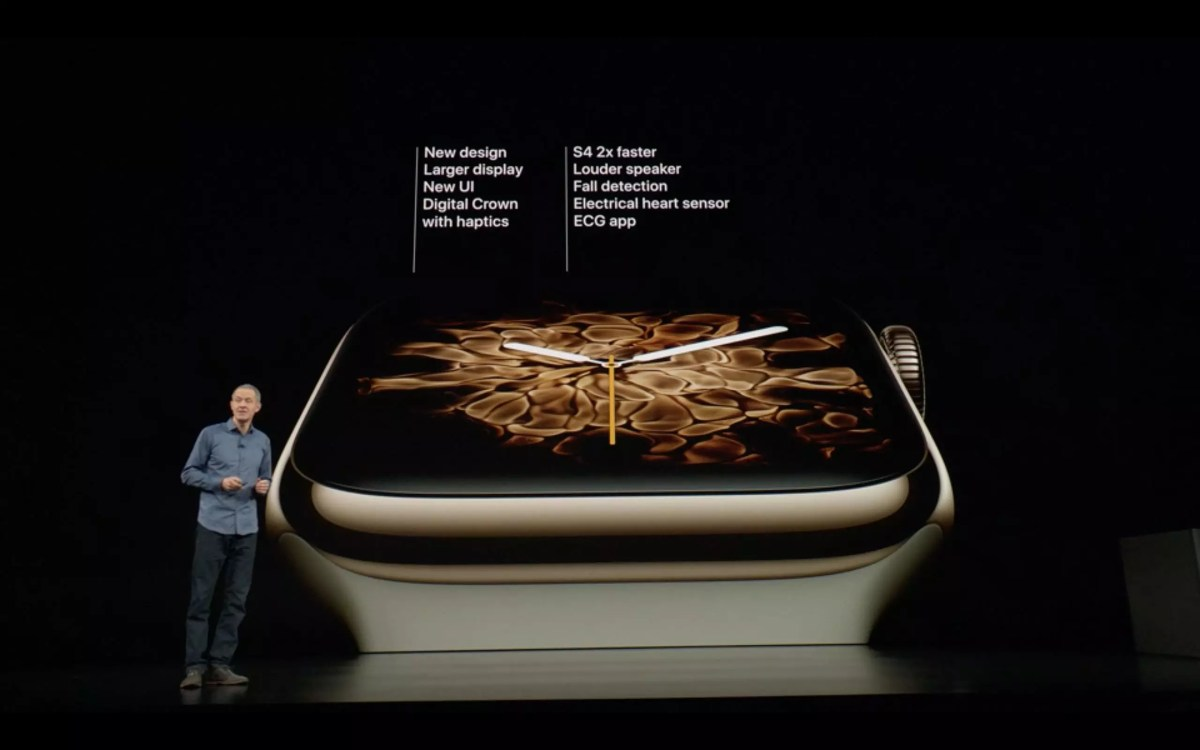 Les nouvelles Apple Watch series 4 cellular et GPS.
