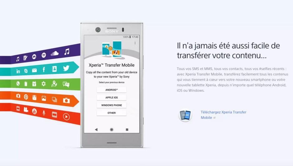 Sony Xperia Transfer permet de passer d'iOS à Android.