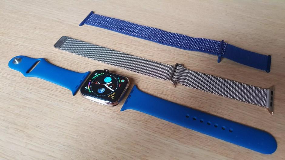 L'Apple Watch series 4 avec un choix de bracelets.