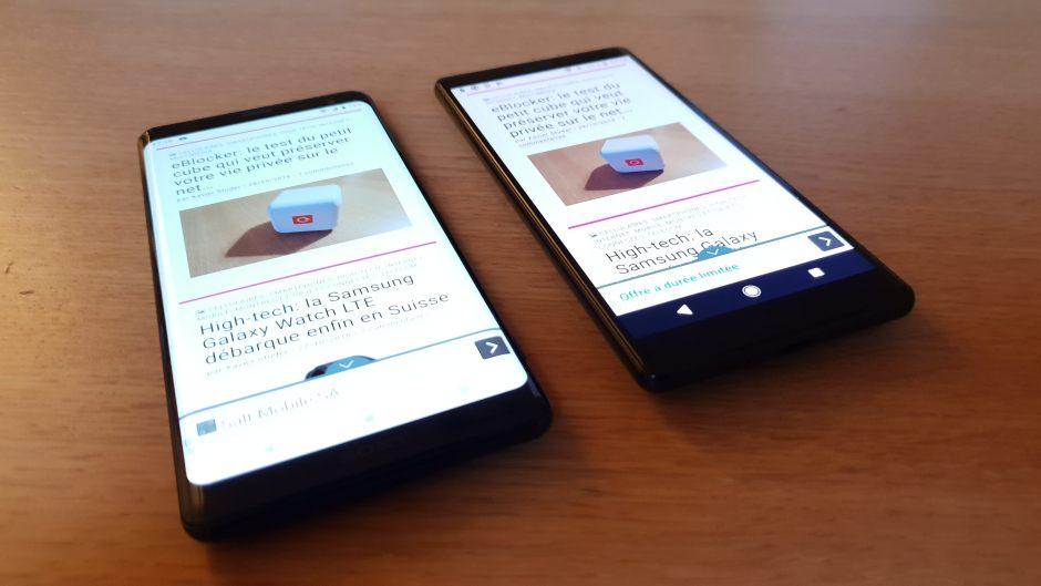 L'Xperia XZ3 propose un réel écran bord à bord, plus grand que celui du XZ2.