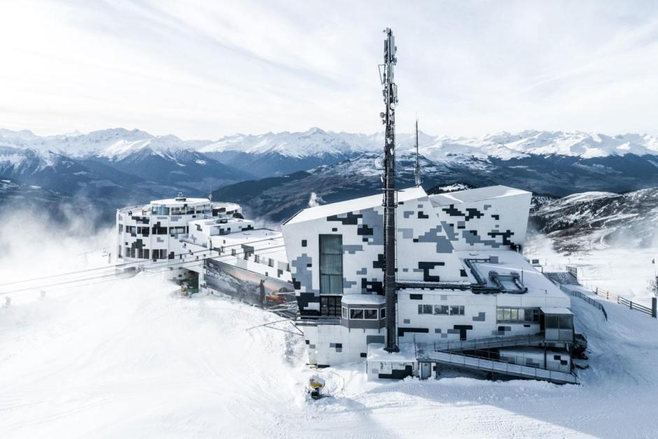 Une antenne 5G Sunrise à Laax en 2018. Pouquoi faire?