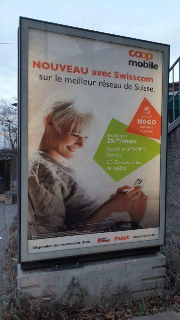 Coop Mobile et Wingo sur le réseau mobile de Swisscom.