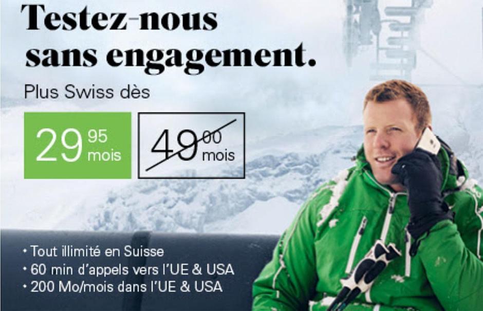 Tout illimité en Suisse avec 200 MB d'internet dans l'UE & USA pour 39.95 /mois au lieu de 59.–