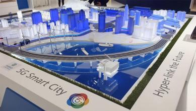 La représentation de Huawei de la ville intelligente.