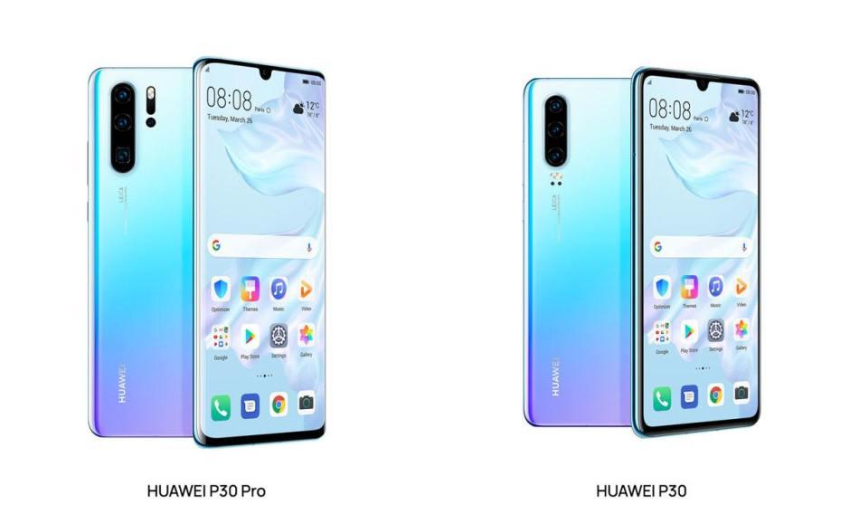 Les Huawei P30 et P30 Pro ont des fiches techniques très proches.