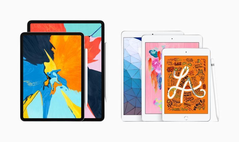 Toute la gamme d'iPad d'Apple.