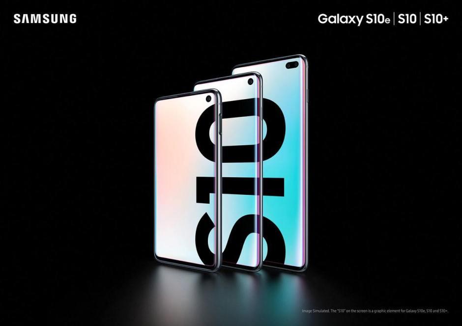 Les Samsung Galaxy S10e, S10 et S10+.