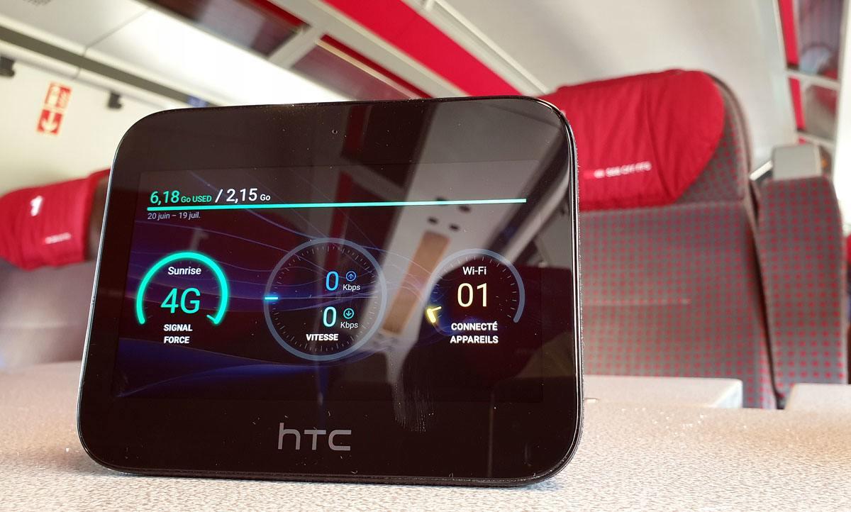 Le HTC hub 5G de Sunrise convainc notamment par son endurance.