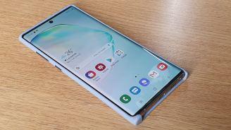 Samsung Galaxy Note 10+: la coque en cuir.