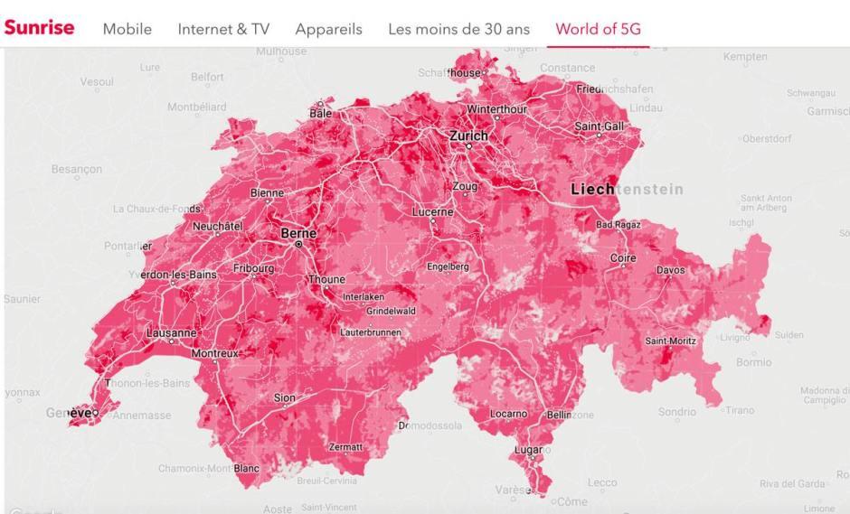 Sunrise continue de communiquer abondamment sur la 5G.