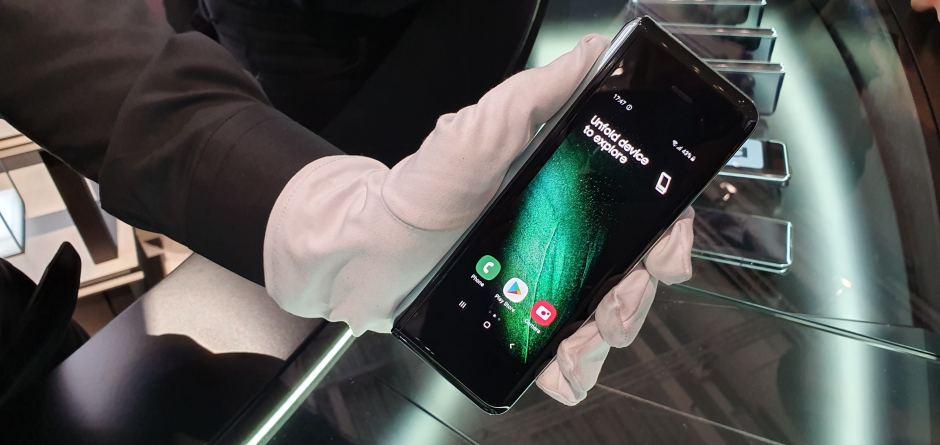 Le Samsung Galaxy Fold est son écran extérieur.