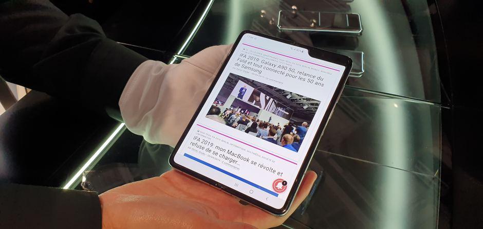 Le Samsung Galaxy Fold et son écran pliable.