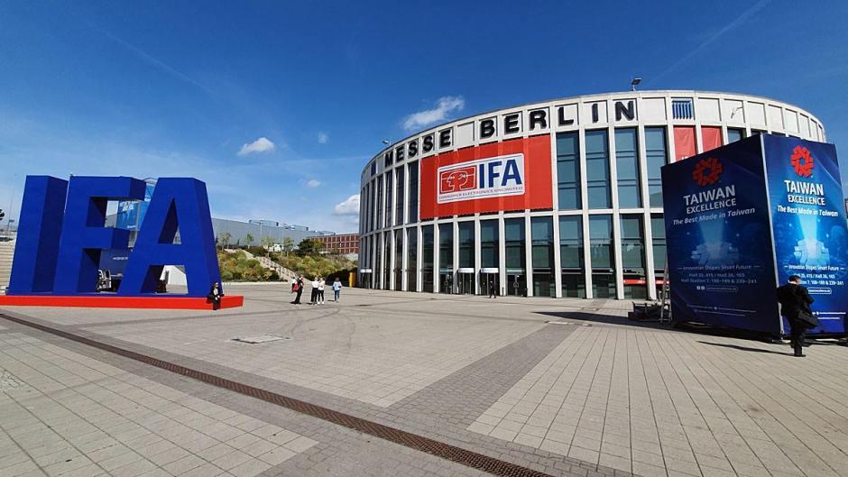 Derniers préparatifs avant l'ouverture au public de l'IFA 2019 de Berlin.