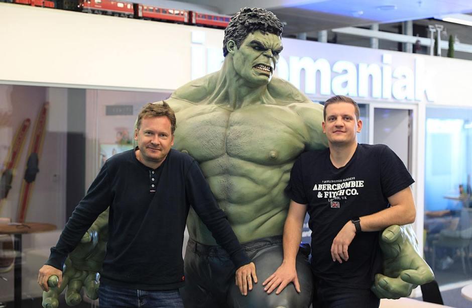 Boris Siegenthaler (CEO) et Marc Oehler (COO) d'Infomaniak.