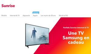 Sunrise lance son offre de TV neo directement intégrée à une TV Samsung!