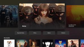Le catalogue Salt Video est intégré dans l'application.