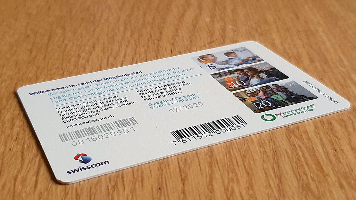 Taxcard de Swisscom: vérifier la validité avant remboursement.