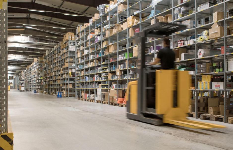 Le centre logistique de digitec et Galaxus à Wohlen (AG).