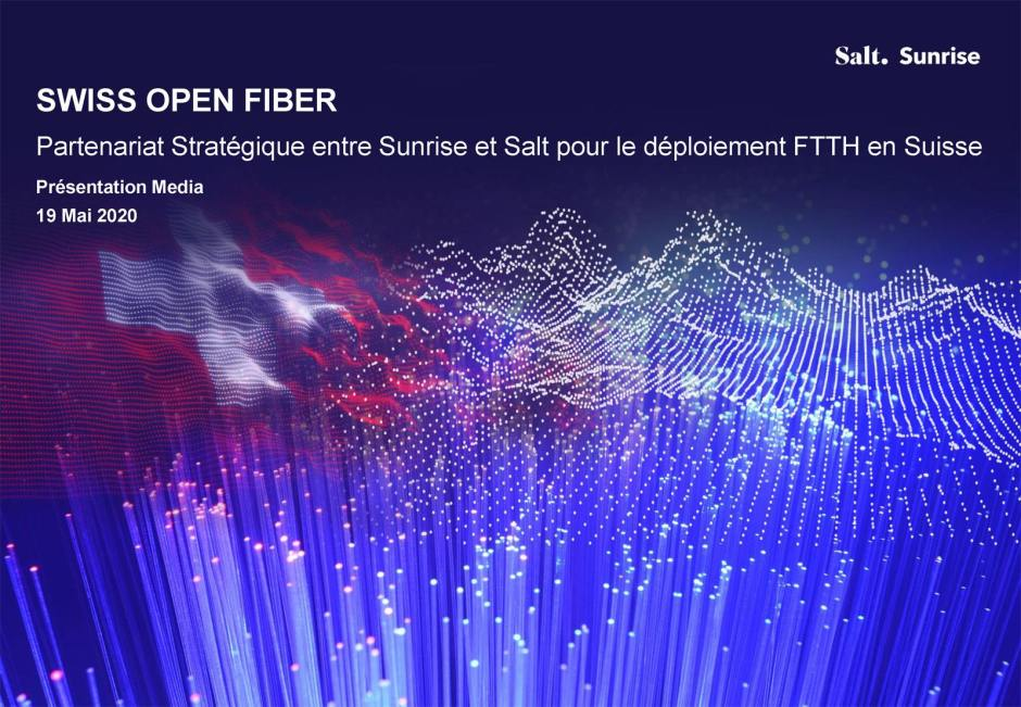 Swiss Open Fiber réunit Salt et Sunrise.