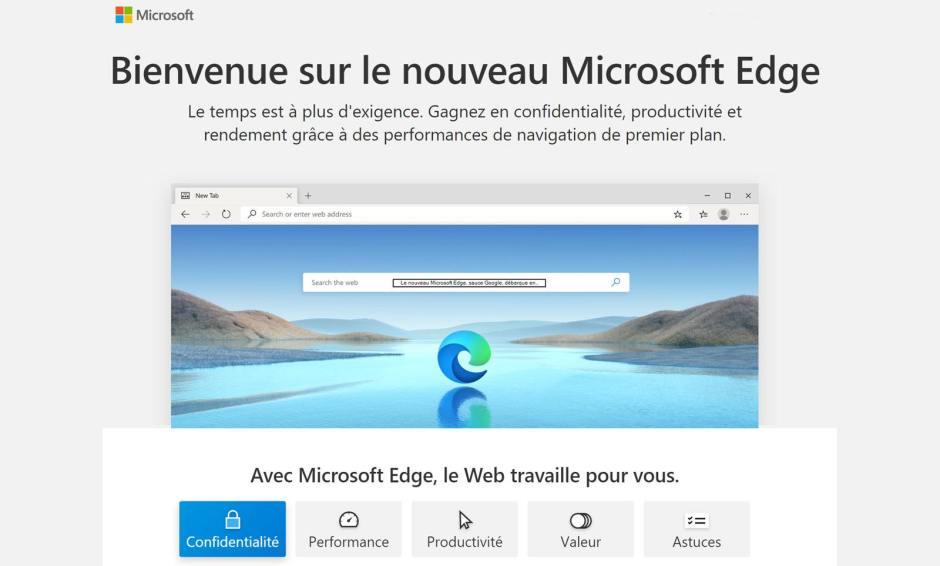 Le nouveau Microsoft Edge sous Chromium est là!