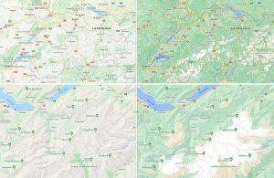 Multimédia: Google améliore ses cartes: frappant pour la Suisse!