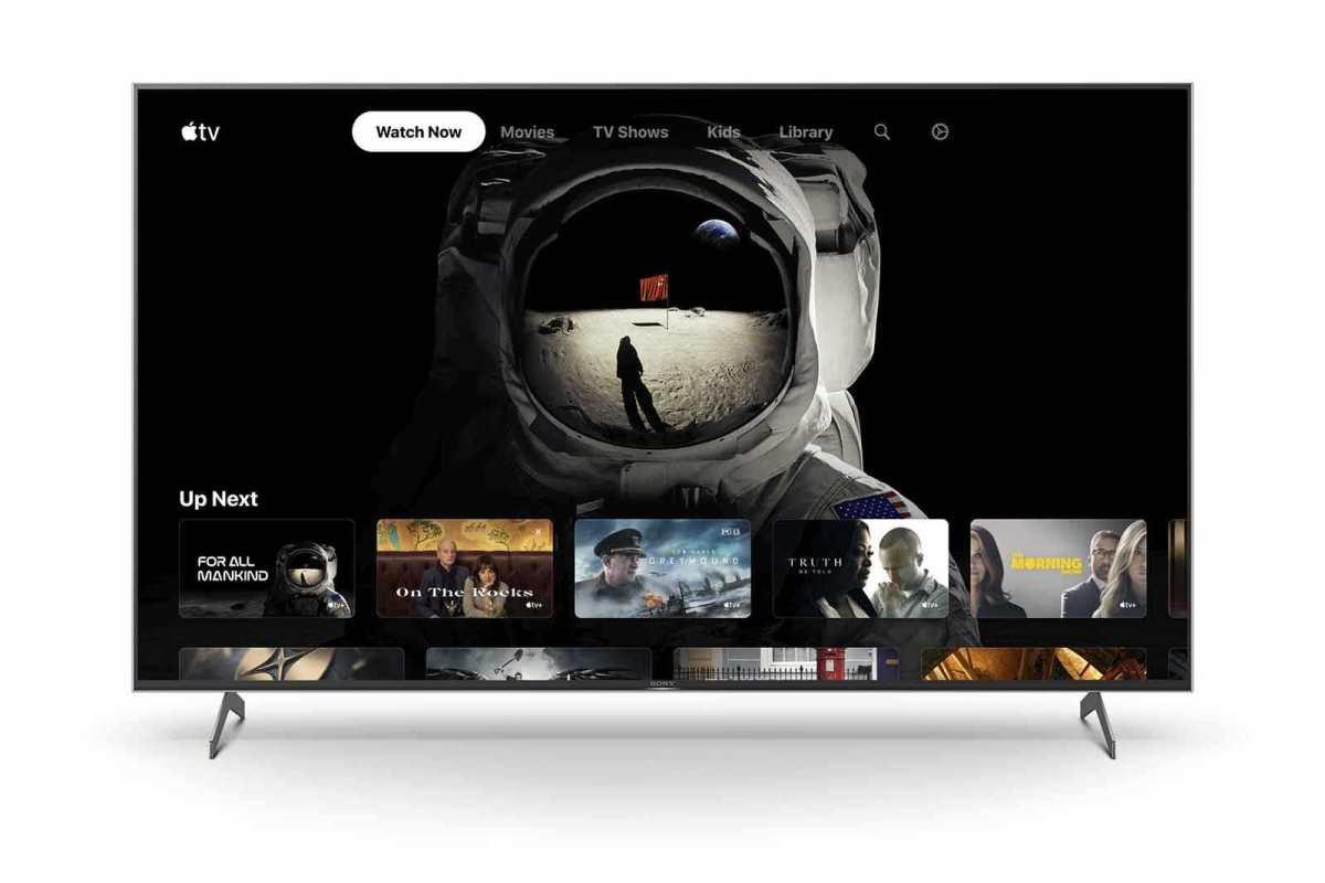 L'app. Apple TV est disponible sur la série Sony XH90.
