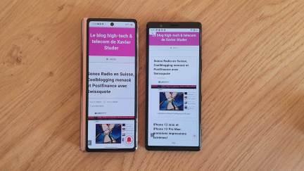 Le Samsung Galaxy Z Fold 2 5G et le Sony Xperia 5.