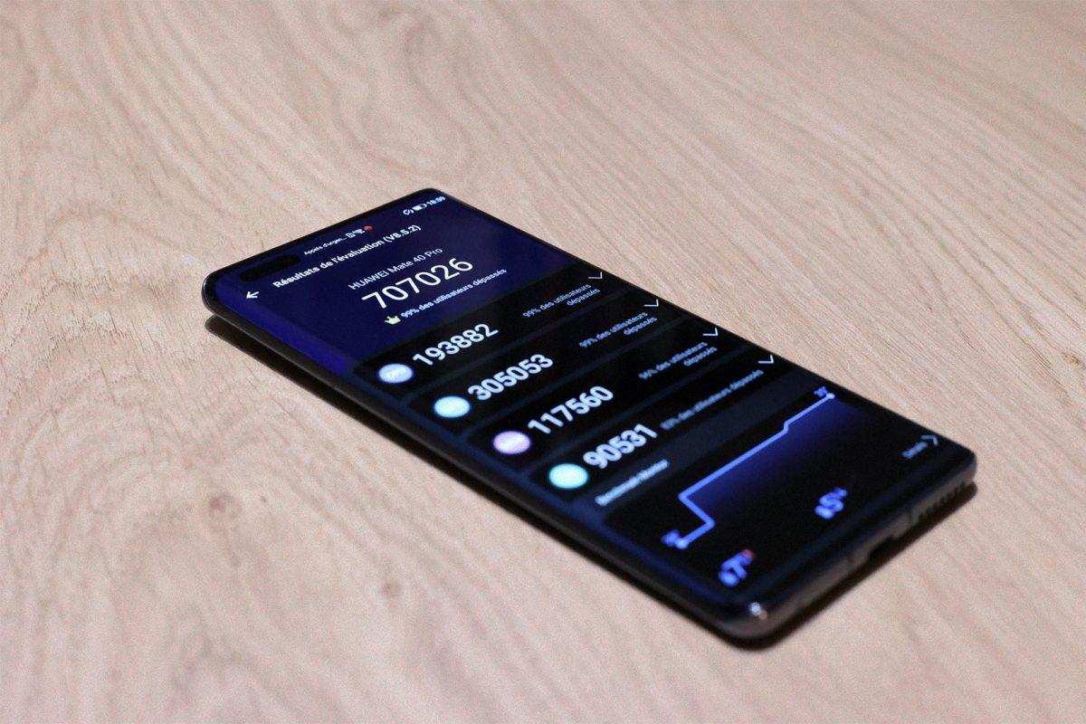 Le Huawei Mate 40 Pro confirme son statut de smartphone le plus rapide!