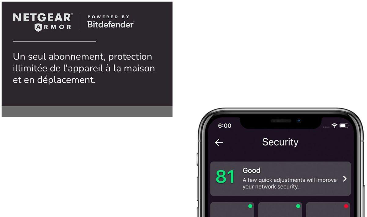 Netgear Armor pour protéger tous ses appareils connectés à la toile.