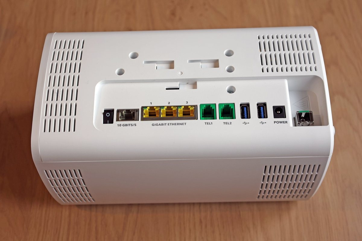 Sunrise internet Box Fiber 10 Gigabits.