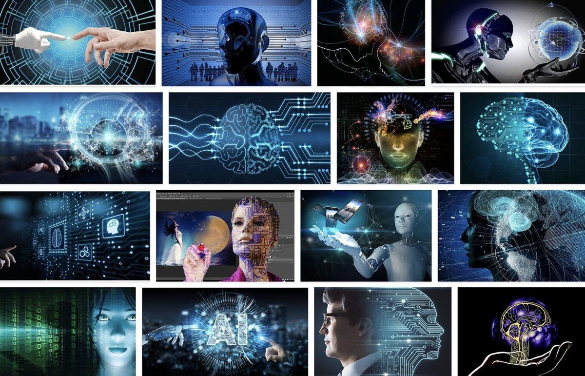 Quelques représentations de l'intelligence artificielle.