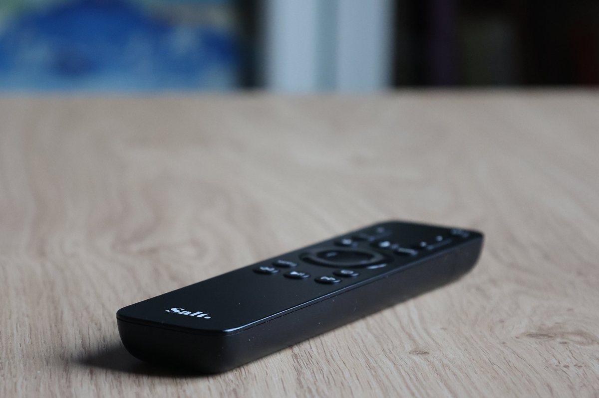 La nouvelle télécommande de Salt pour l'Apple TV.