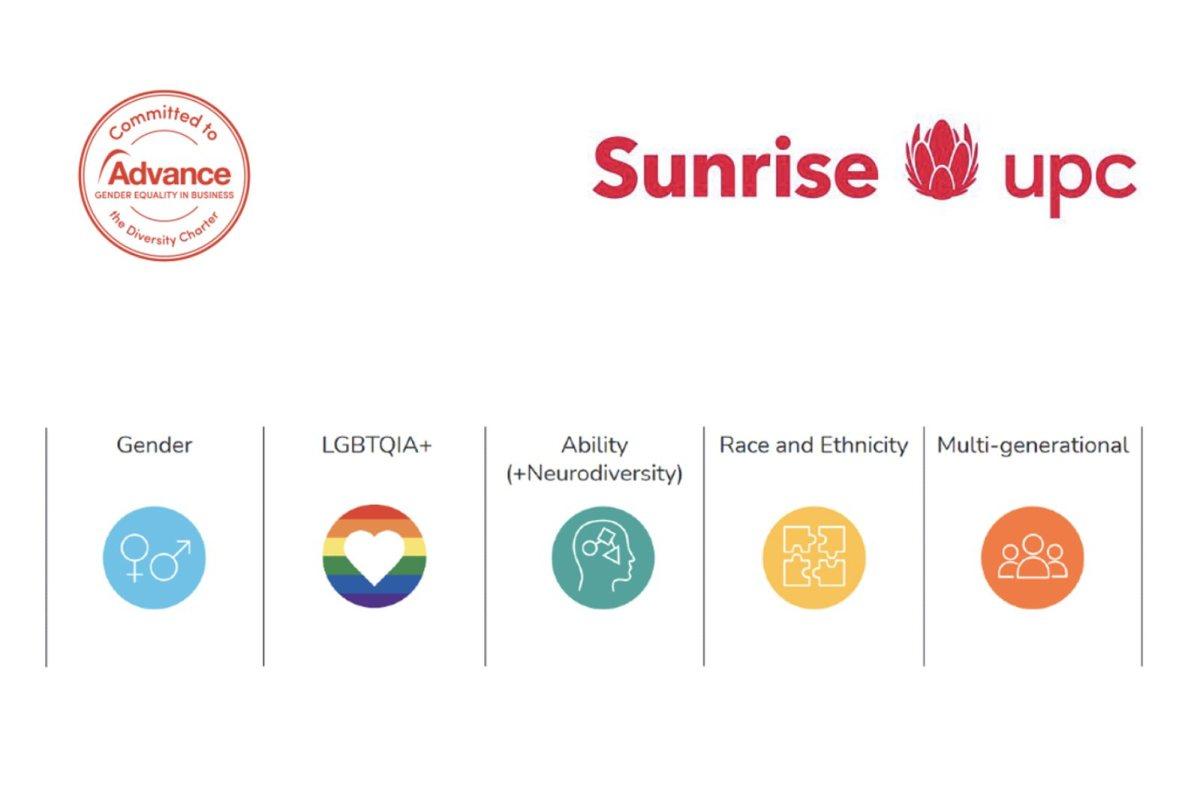 Sunrise UPC s'engage pour la diversité.