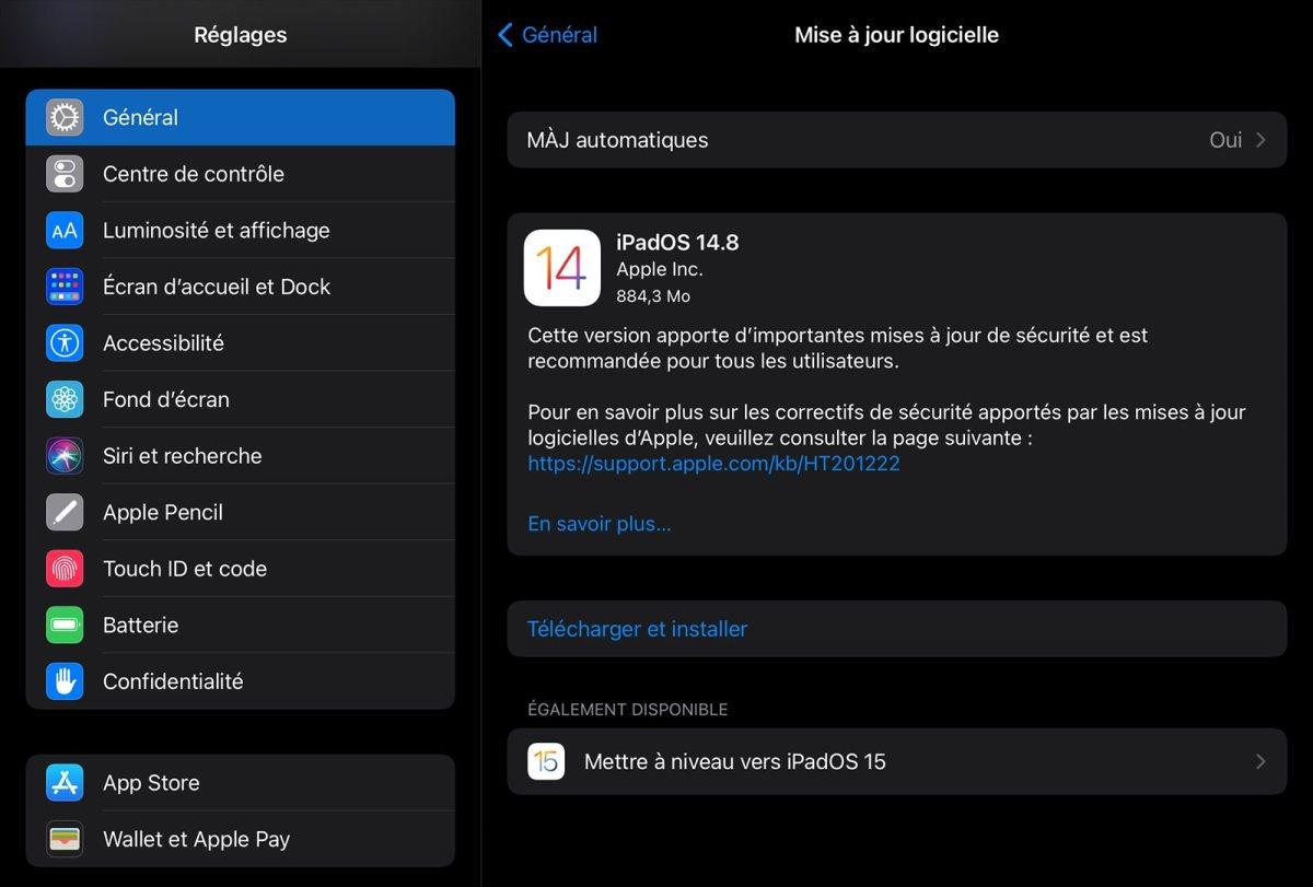 Vous êtes plutôt iPadOS 14.8 ou iPad OS 15?