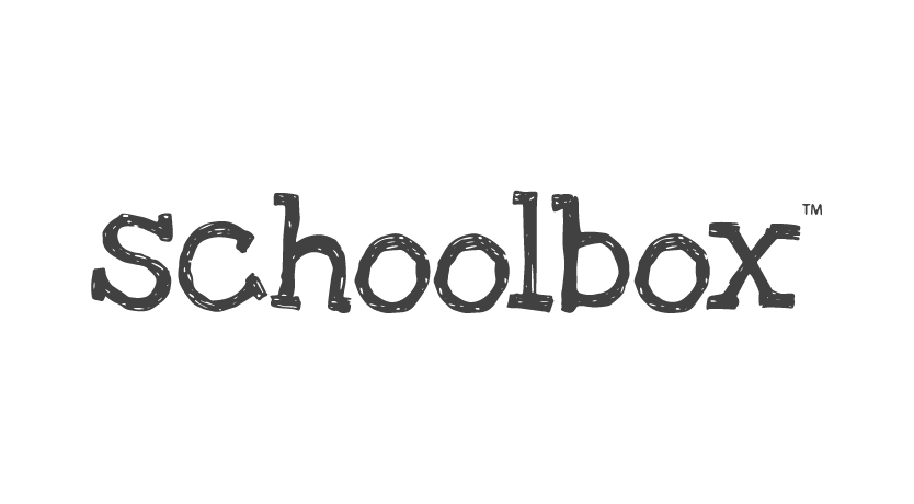 schoolbox logo in transparent grey png