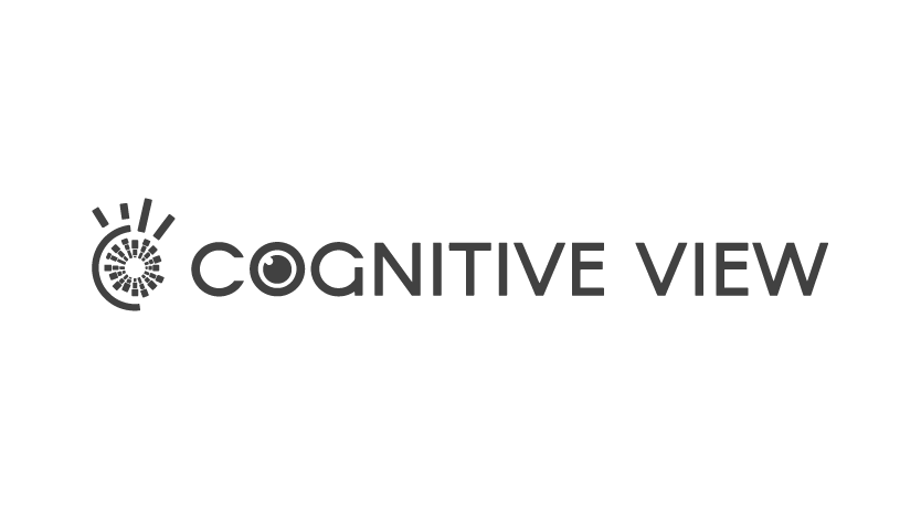 Cognitive View logo in transparent grey png